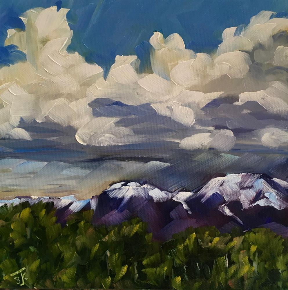 """Build Up Over the Mountains"" original fine art by Bobbie Cook"
