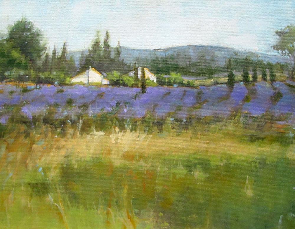 """Provence - French Fields"" original fine art by Jane Robertson"