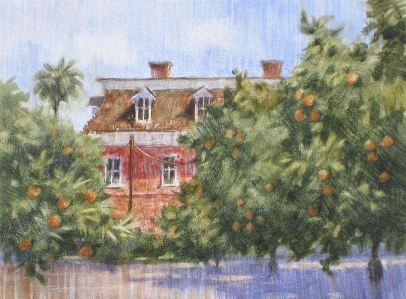 """Barton House"" original fine art by Ginger Pena"