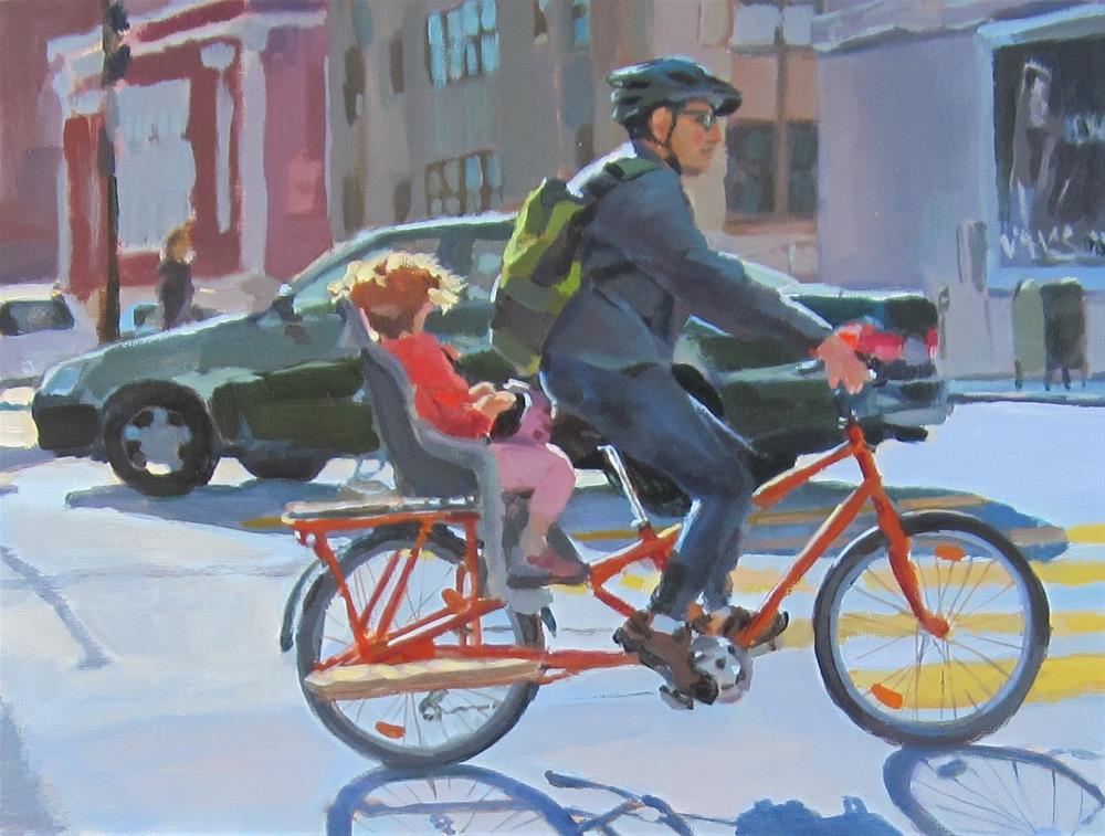 """The Commuters"" original fine art by Kaethe Bealer"