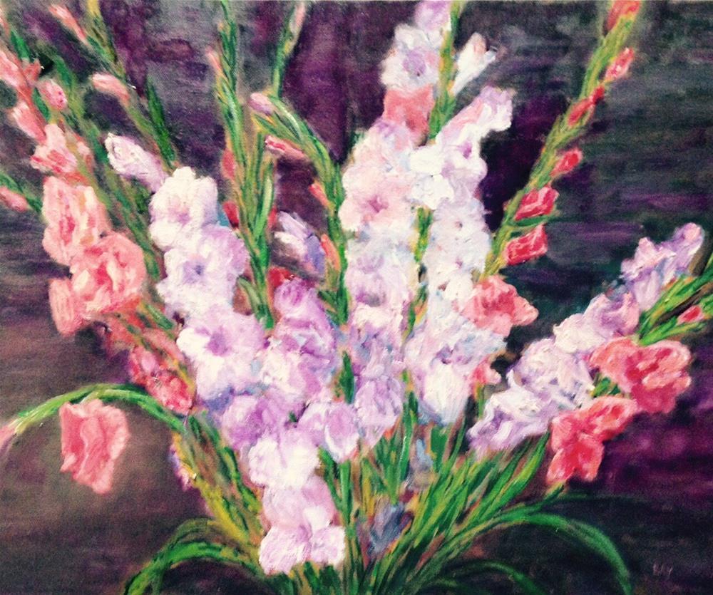 """""""Gladiolus"""" original fine art by barbara yongue"""