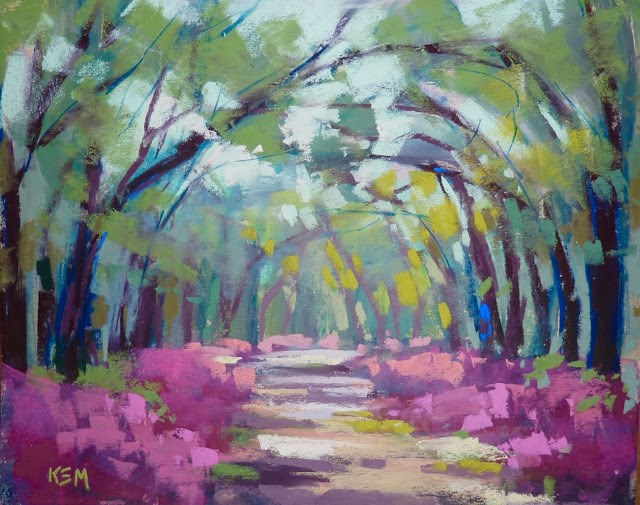 """Choosing the Right Painting Music"" original fine art by Karen Margulis"