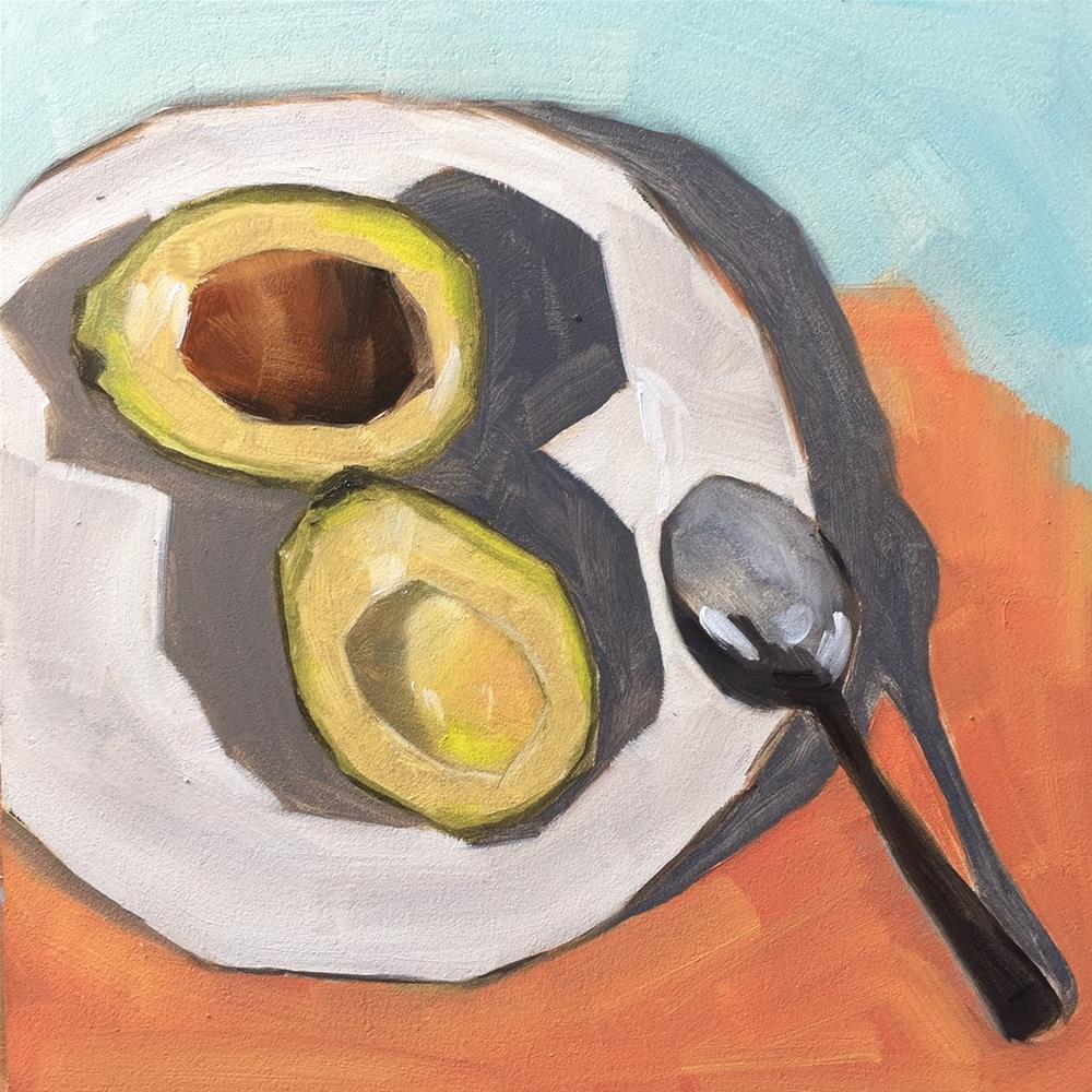 """""""212 Lucky Avocado"""" original fine art by Jenny Doh"""