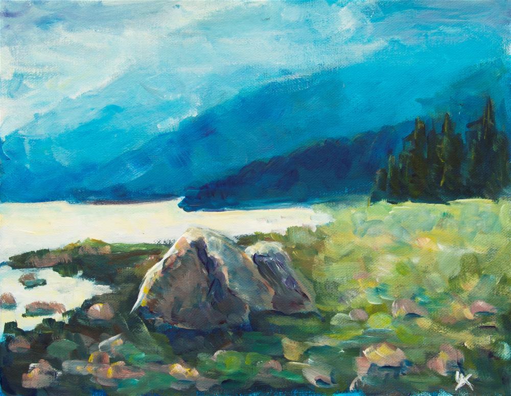 """Point Bridget state park, Juneau, Alaska"" original fine art by Yulia Kazansky"