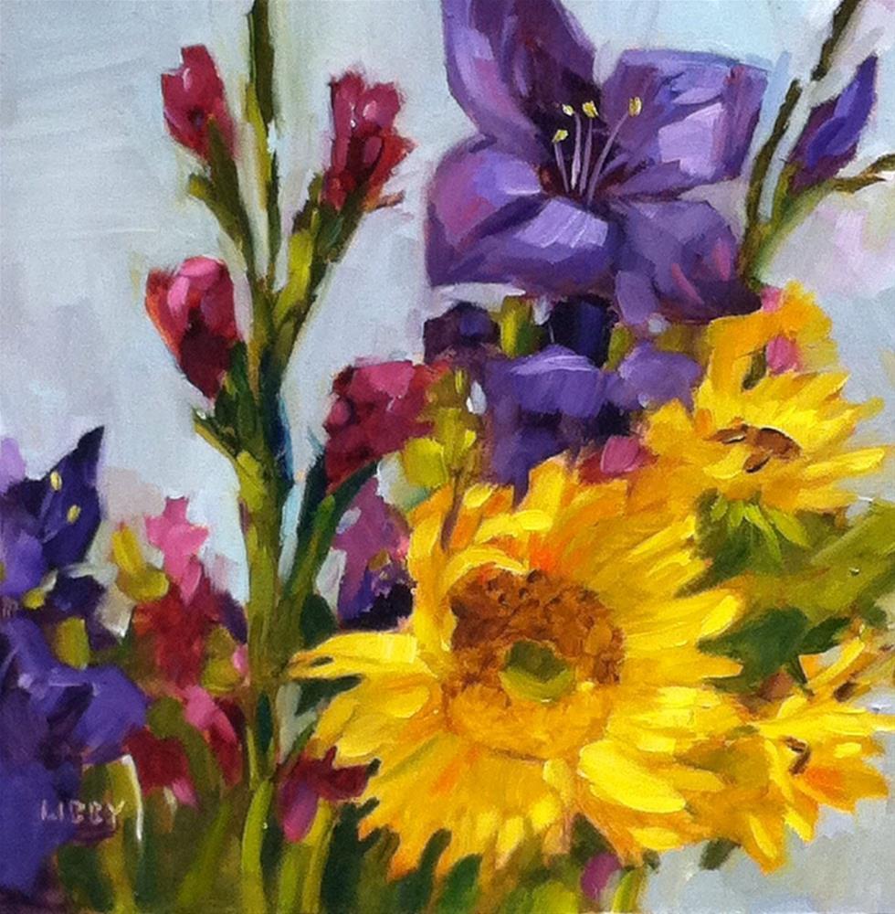 """Nancy's Flowers"" original fine art by Libby Anderson"