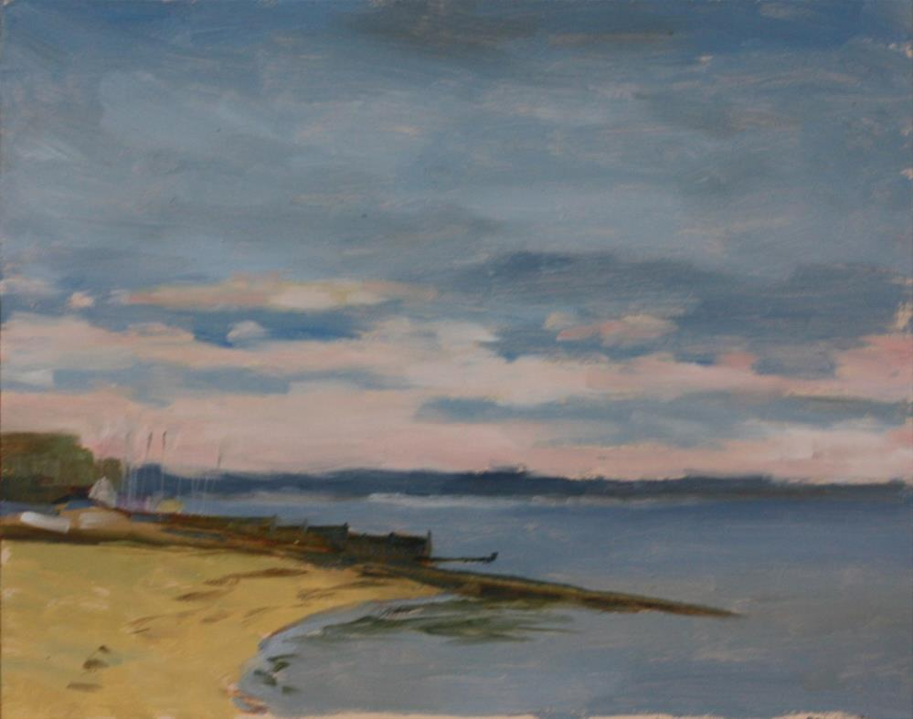 """End of the weekend, Whitstable Bay"" original fine art by Graham Townsend"