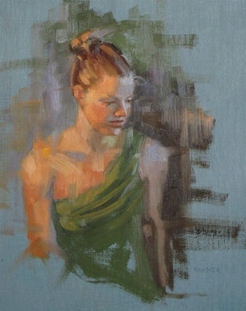 """Green Top  10 x 8 oil"" original fine art by Claudia Hammer"