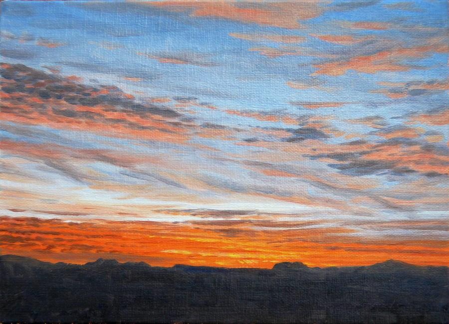 """C1654 ""Sunset Skies Study #2"""" original fine art by Steven Thor Johanneson"