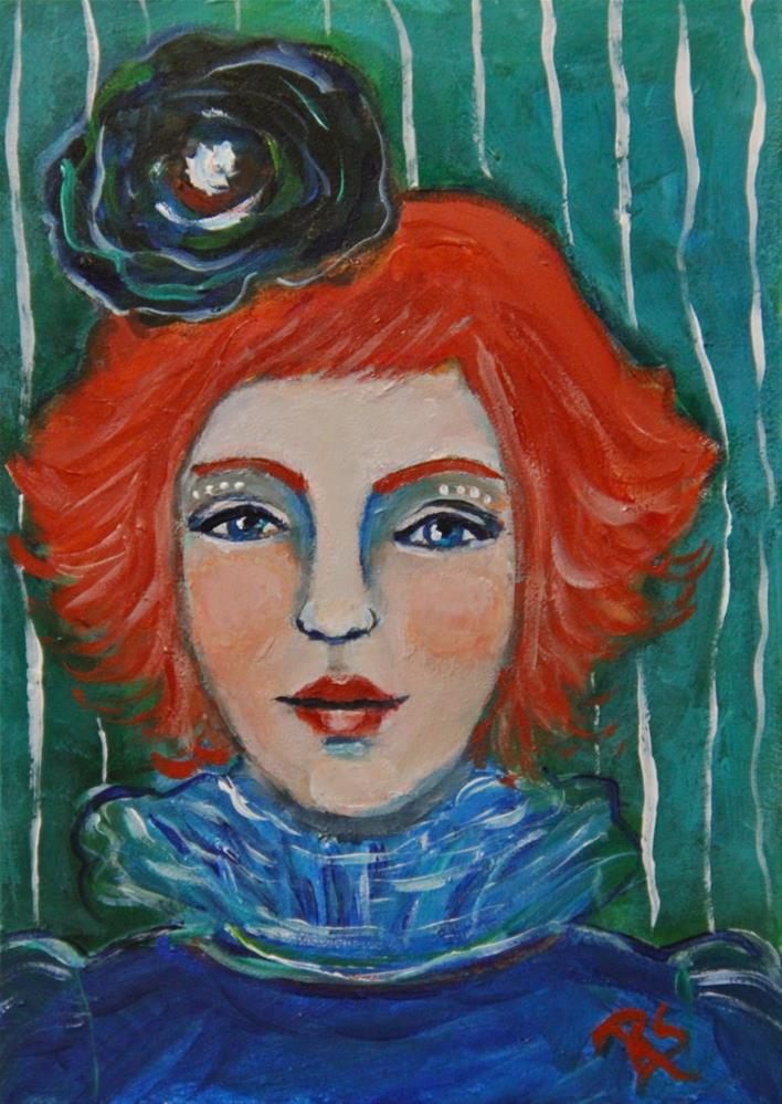 """Le Marionette"" original fine art by Roberta Schmidt ArtcyLucy"