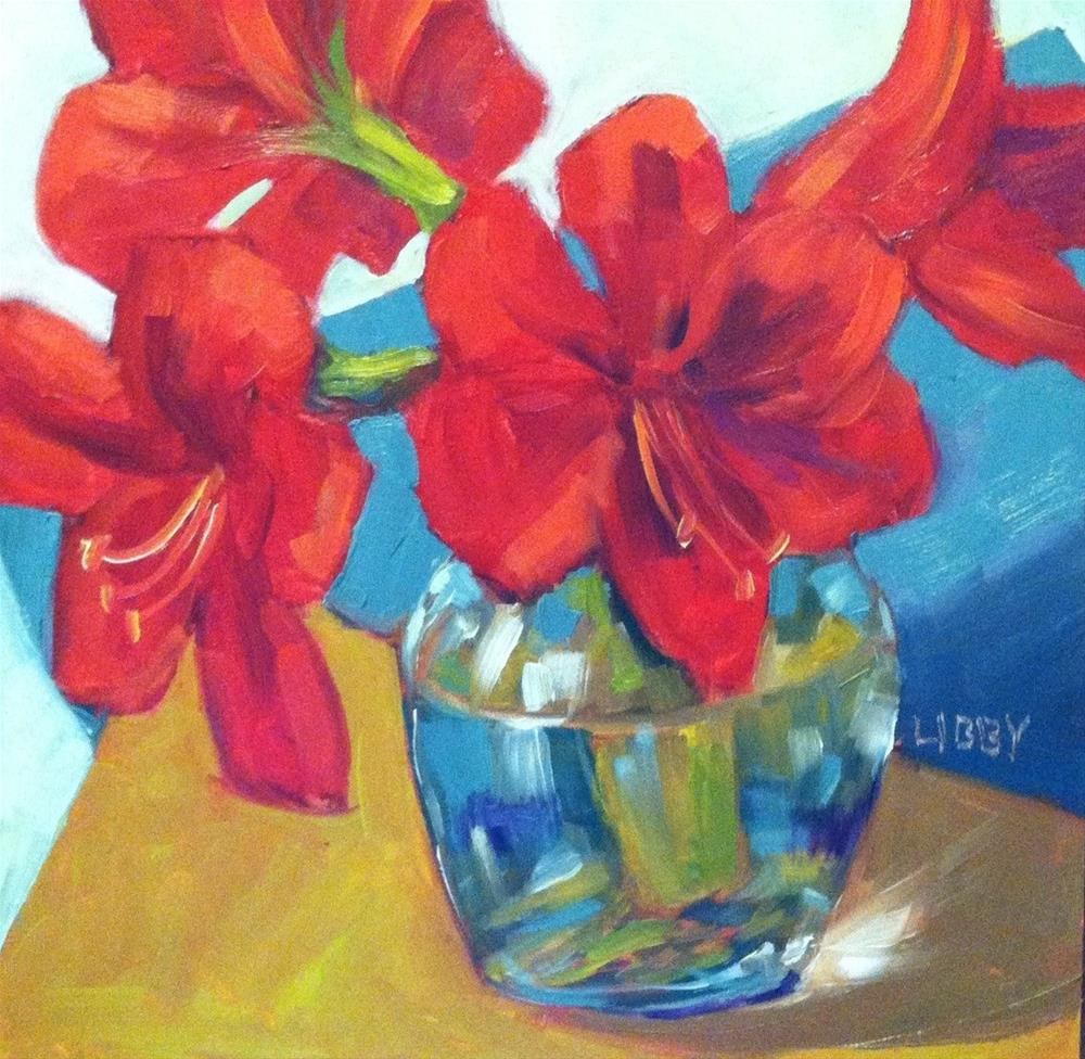 """""""Red on the Edge"""" original fine art by Libby Anderson"""