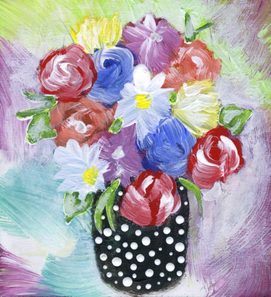 """""""Tiny Bouquet"""" original fine art by Kali Parsons"""