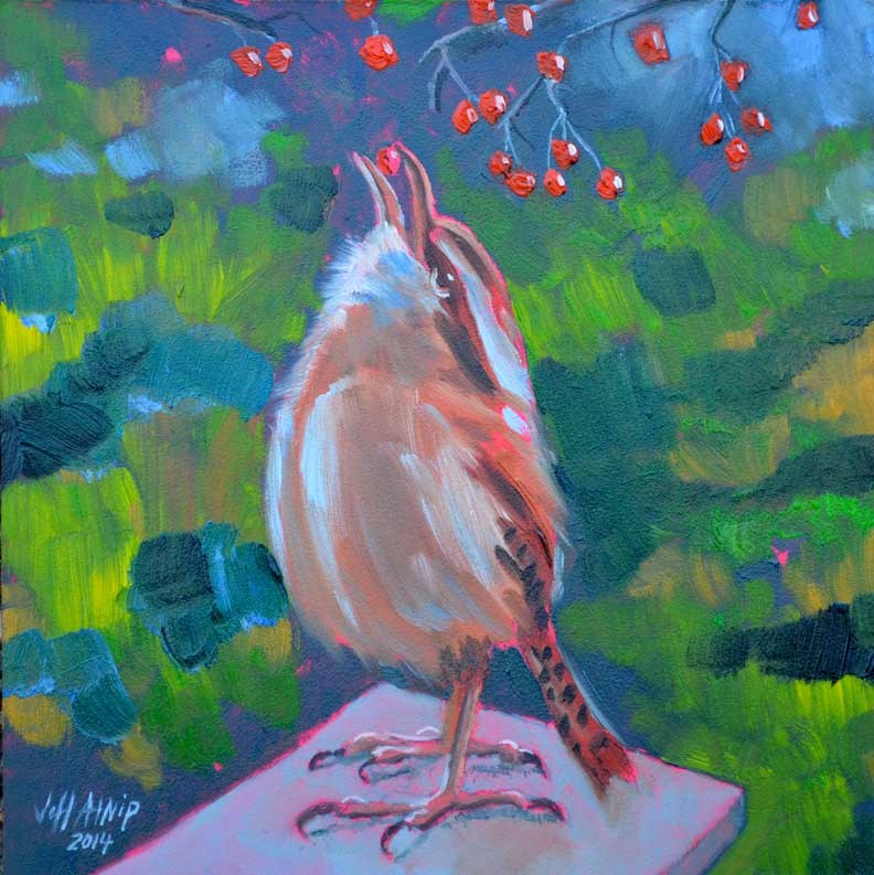 """Carolina Wren"" original fine art by Jeff Atnip"