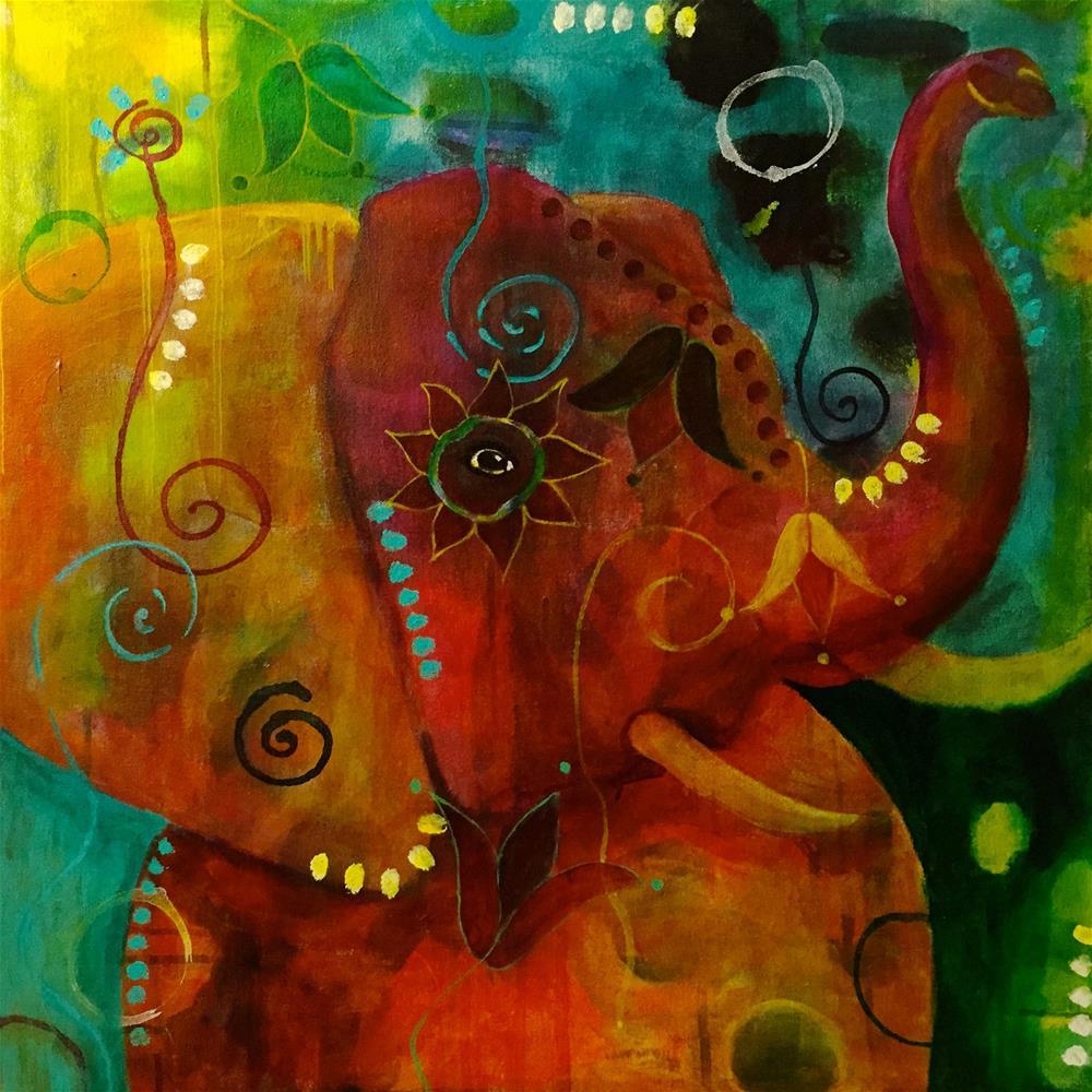 """The Root of all Wisdom"" original fine art by Silke Powers"
