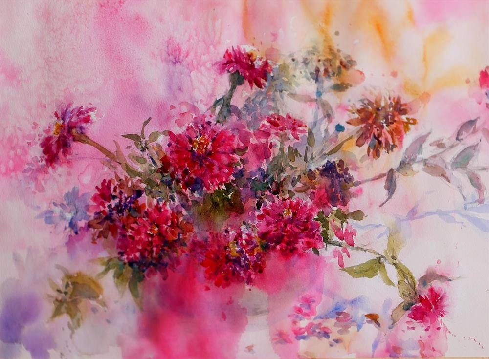 """Garden city Al Ain"" original fine art by Midori Yoshino"