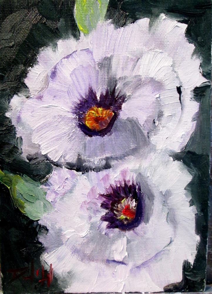 """White Poppies"" original fine art by Delilah Smith"