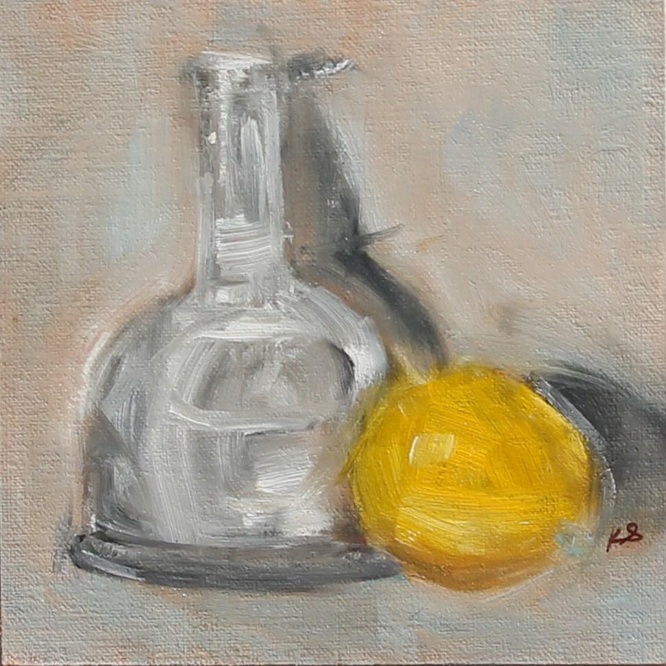 """Add a Lemon"" original fine art by Karen Solorzano"