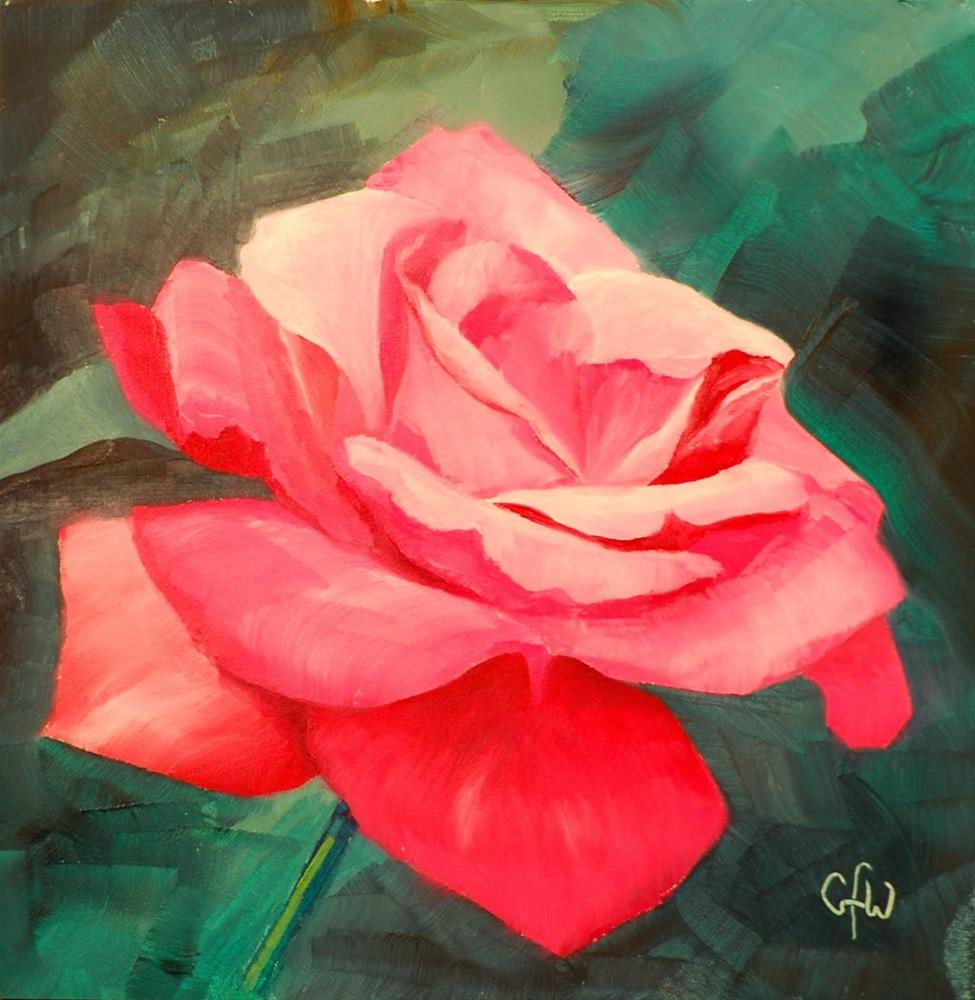 """""""Pink Rose"""" original fine art by Gary Westlake"""