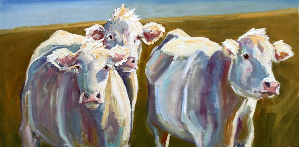 """charolais combo"" original fine art by Carol Carmichael"