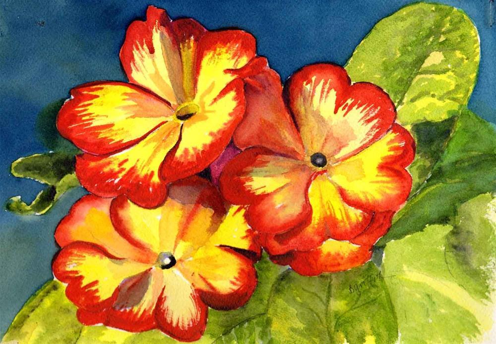"""Polyanthus Flower"" original fine art by Bunny Griffeth"
