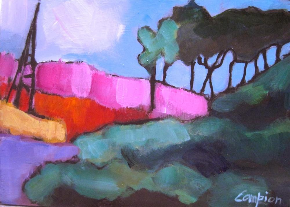 """277.  Pines in the Foreground and Background"" original fine art by Diane Campion"