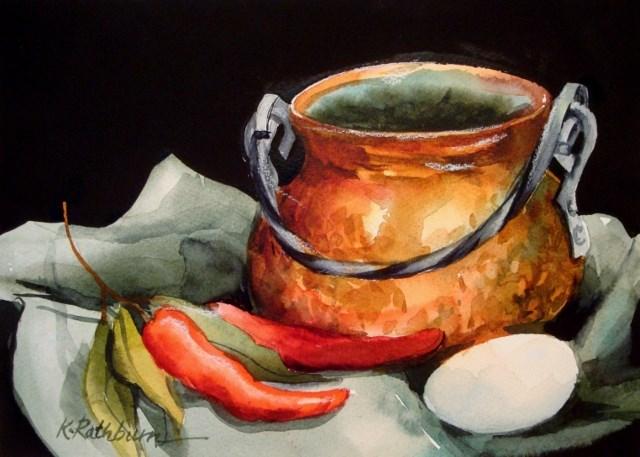 """Pepper Pot"" original fine art by Kathy Los-Rathburn"