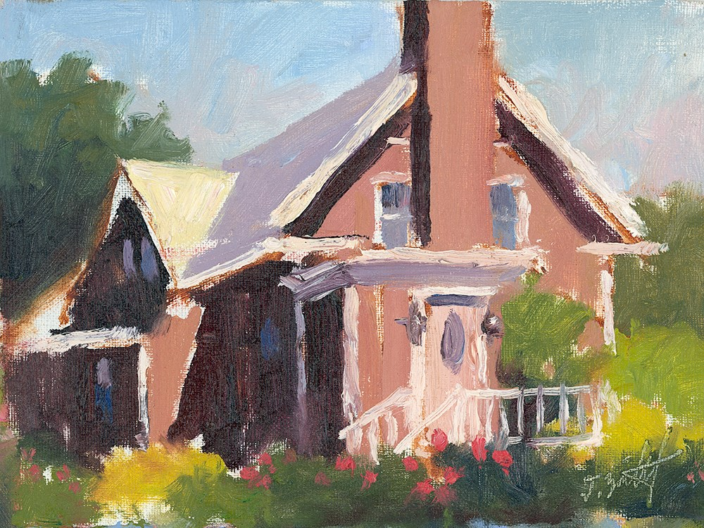 """""""Clay Rose Bungalow (study)"""" original fine art by Todd Zuithof"""