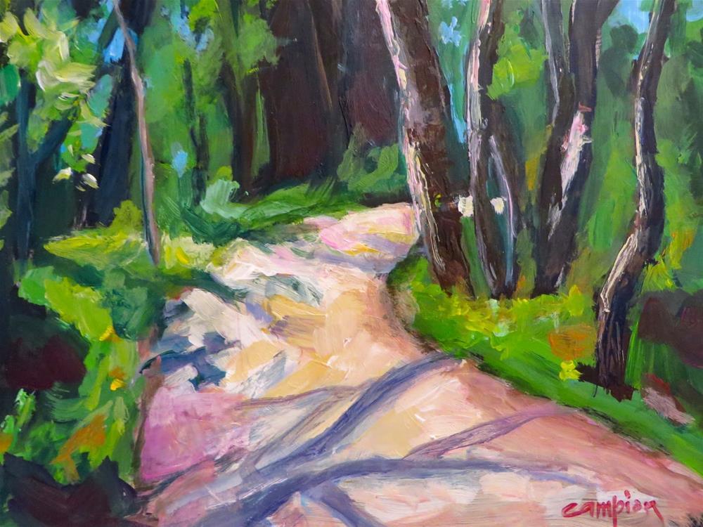 """622 Sunset Trail Veering Right"" original fine art by Diane Campion"