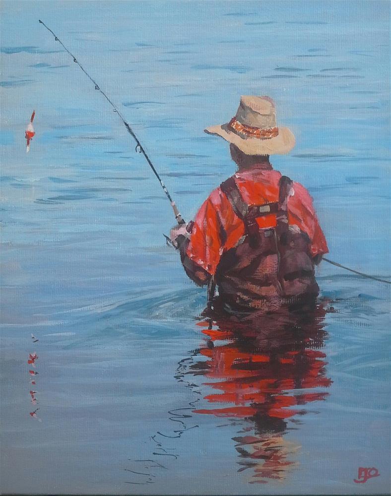 """""""The Fisherman"""" original fine art by Leanne Owen"""