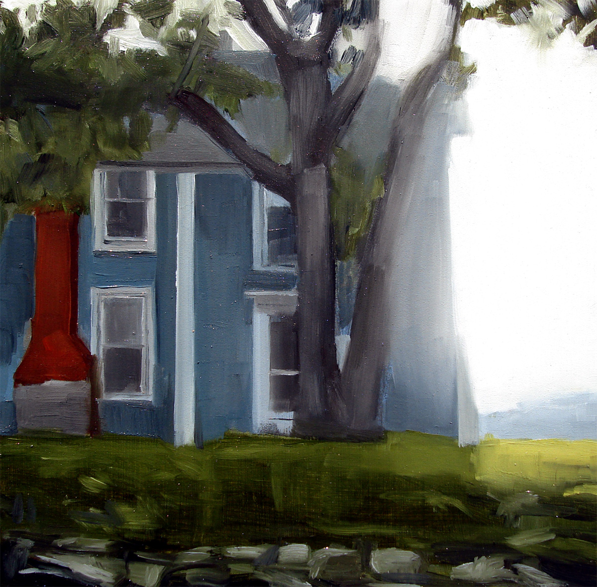 """Back View Of House On The Edge Of The Cove, NH (no.40)"" original fine art by Michael William"