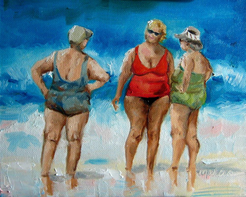 """Comfortable Friends"" original fine art by Marcia Hodges"