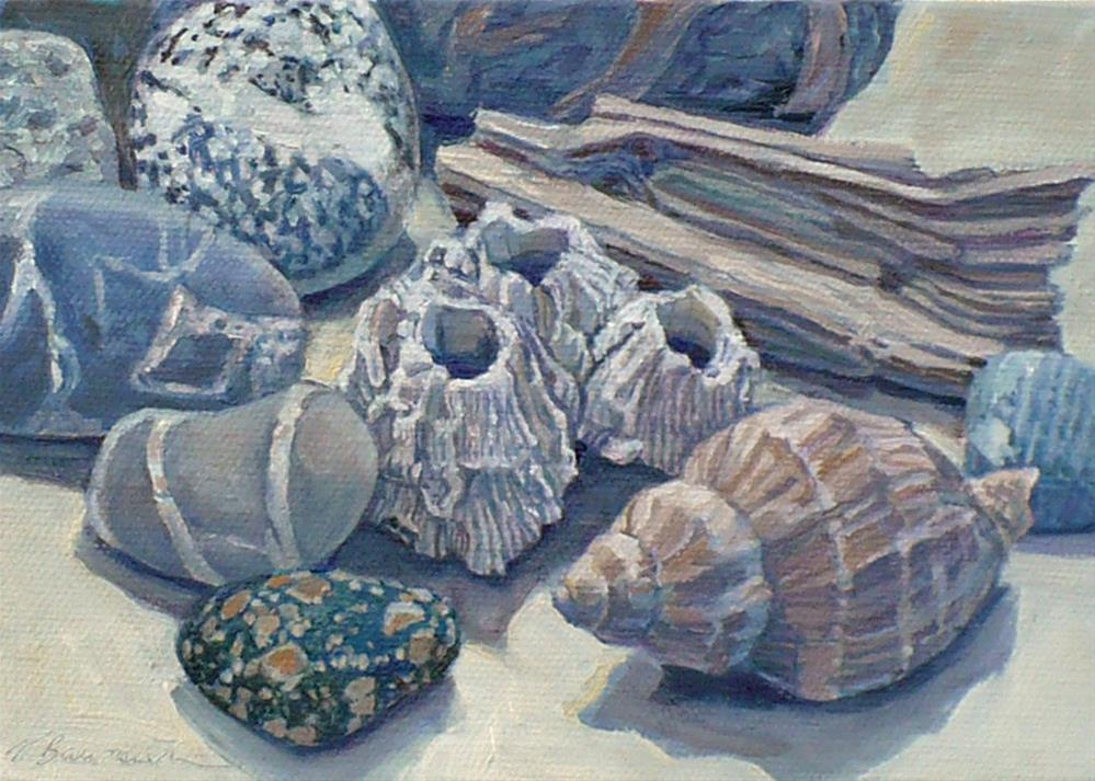 """""""Beaches: Collections from the Beach"""" original fine art by Nicoletta Baumeister"""