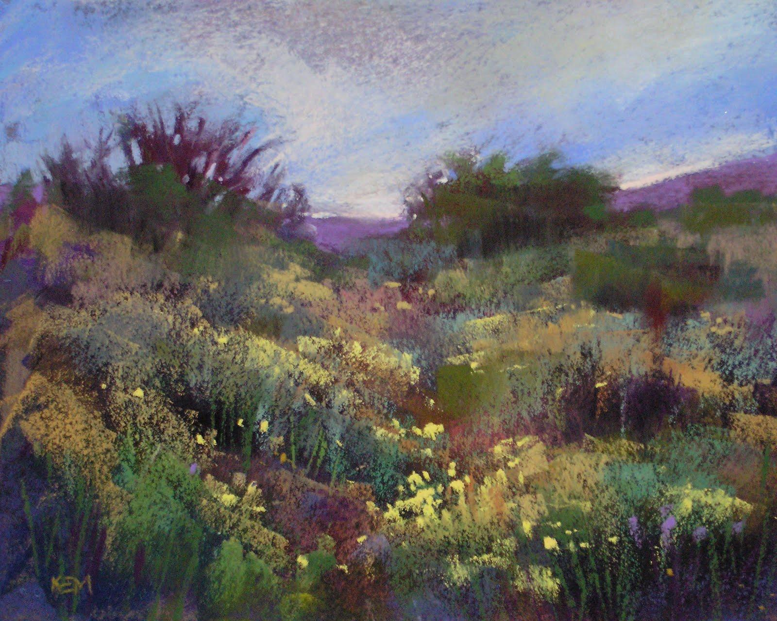 """Chamisa in Bloom     8x10       pastel"" original fine art by Karen Margulis"