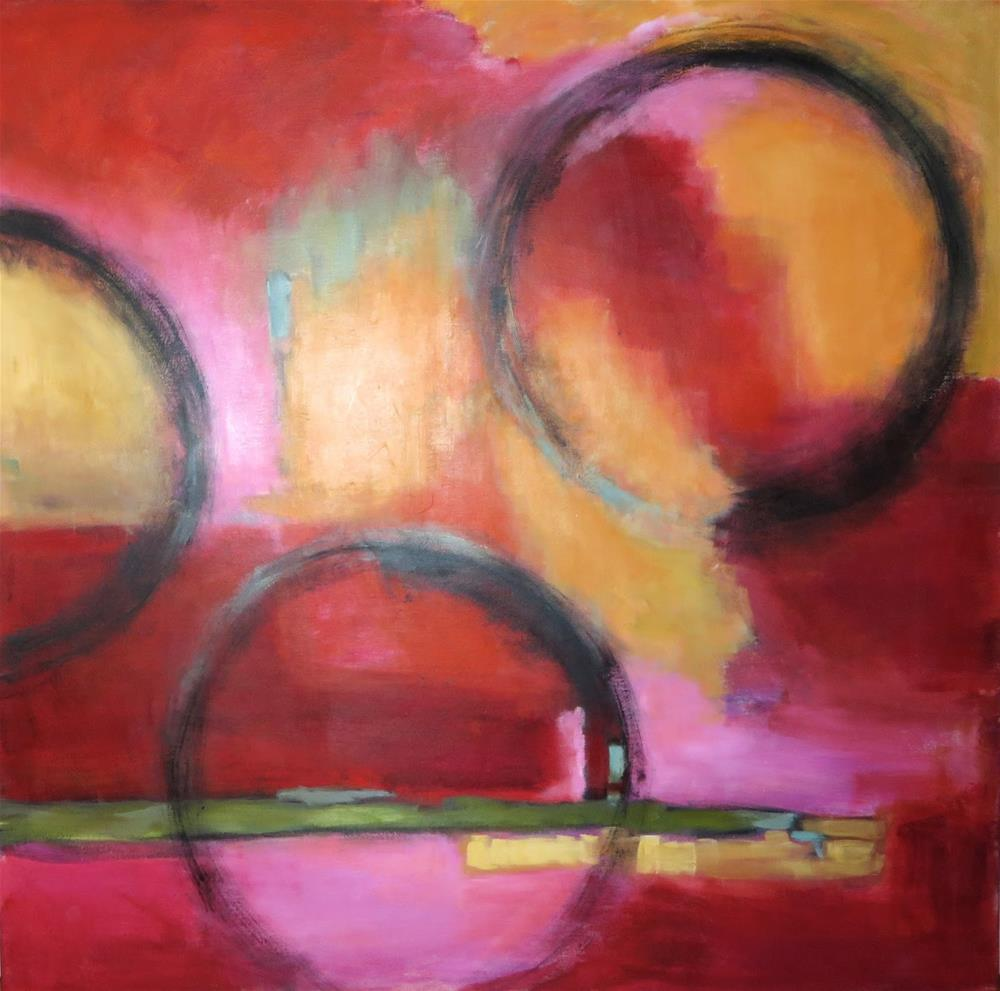 """Jumping Through Hoops"" original fine art by Diane Campion"