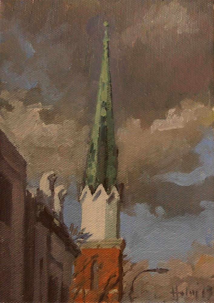 """Copper Spire"" original fine art by Ski Holm"
