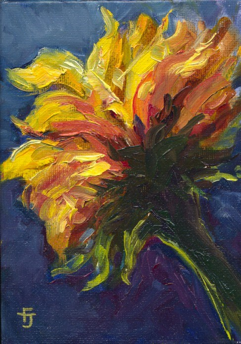 """Sunflower Zest"" original fine art by Francine Dufour~Jones"