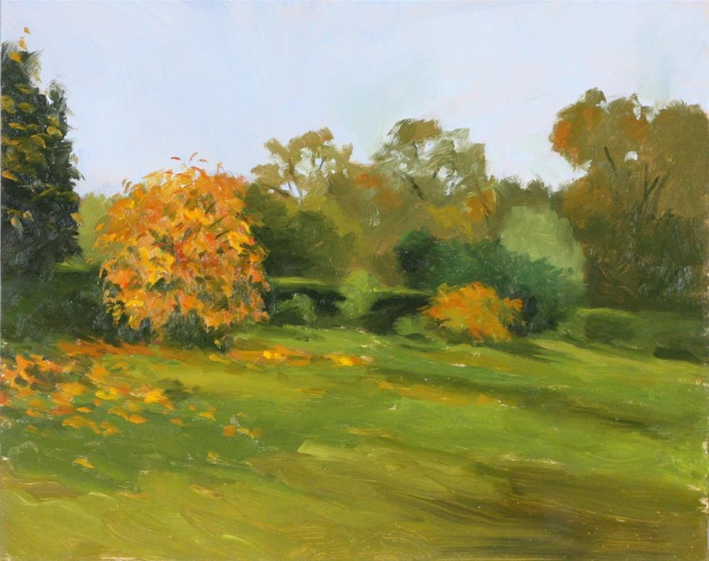 """Late afternoon autumn, Casteau"" original fine art by Graham Townsend"