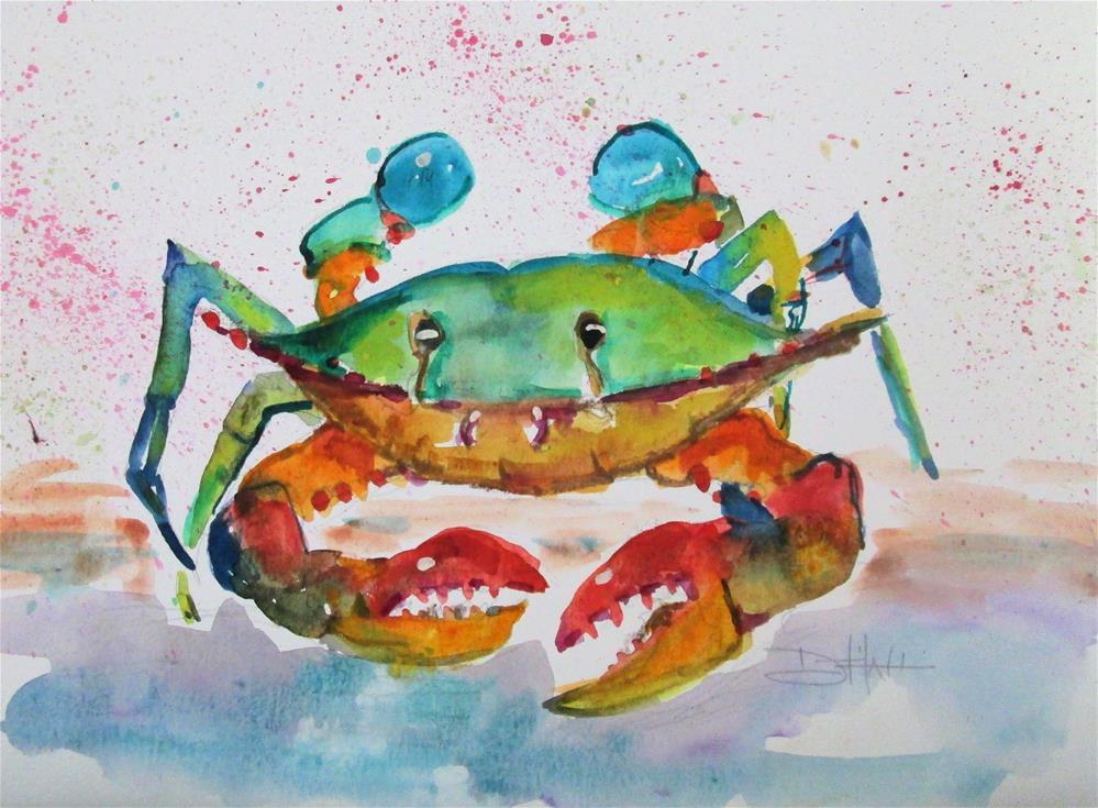 """Blue Crab No. 14"" original fine art by Delilah Smith"