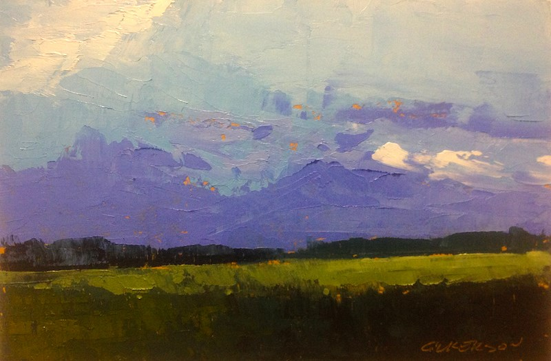 """Squall Line, Evening"" original fine art by Mary Gilkerson"