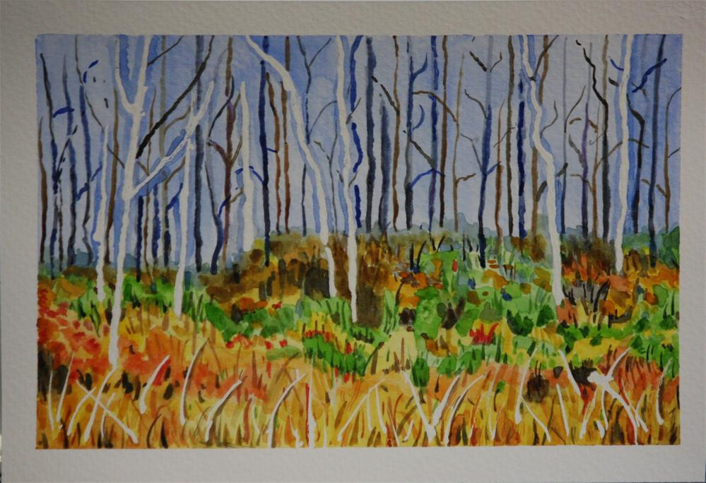 """Autumn Forest"" original fine art by Terri-Anne Barge"