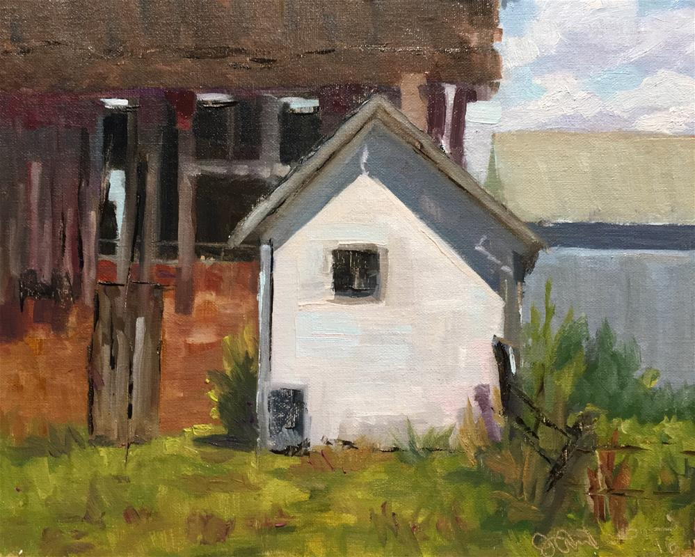 """Hen House"" original fine art by Judith Anderson"