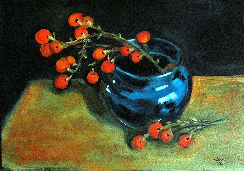 """Madrone Berries"" original fine art by Cietha Wilson"