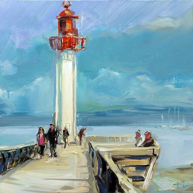 """Leuchtturm"" original fine art by Jurij Frey"