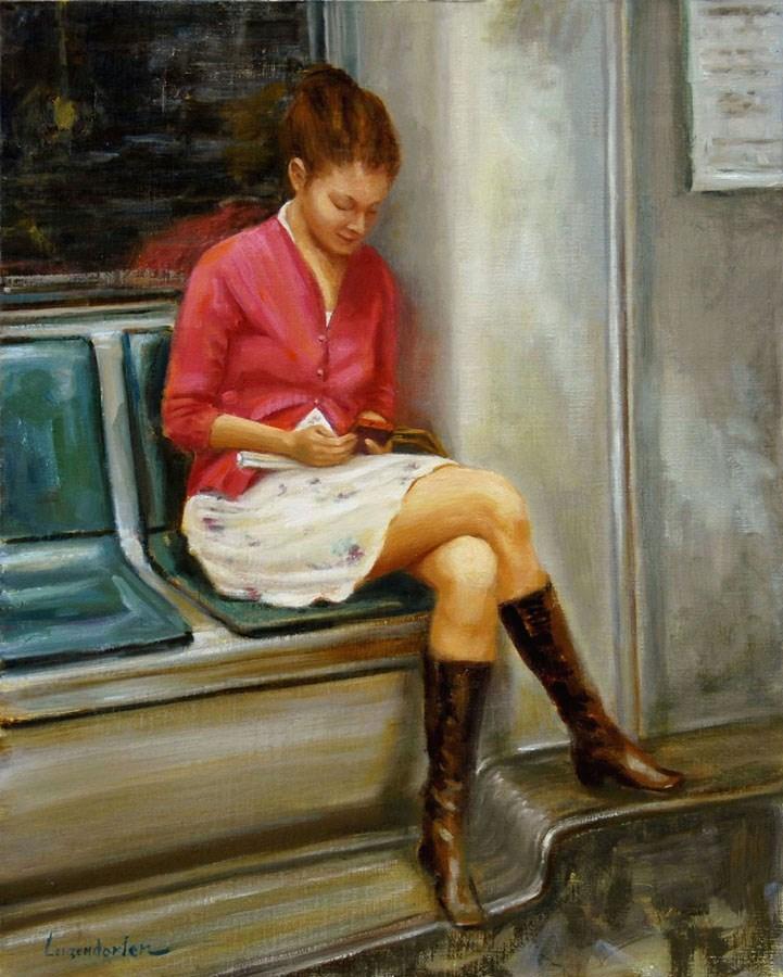 """AMERICAN GIRL"" original fine art by Dj Lanzendorfer"