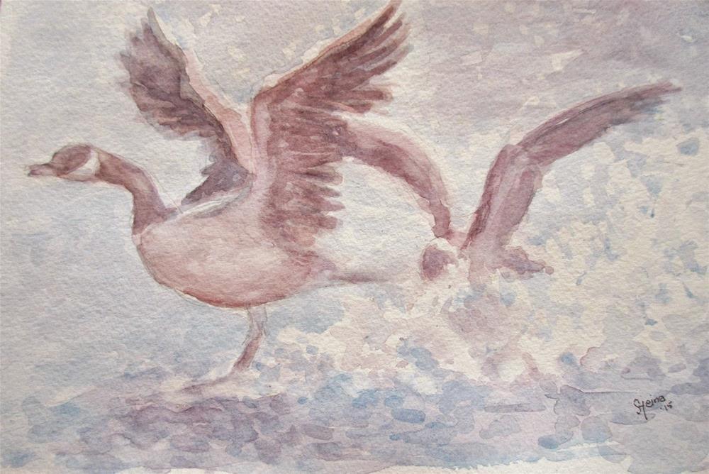 """""""Taking flight!"""" original fine art by Steinunn Einarsdottir"""