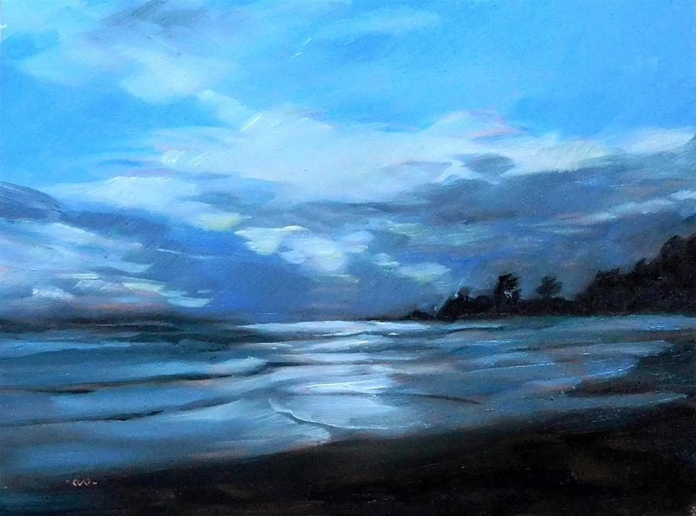 """""""Look For The Silver Lining"""" original fine art by Cietha Wilson"""
