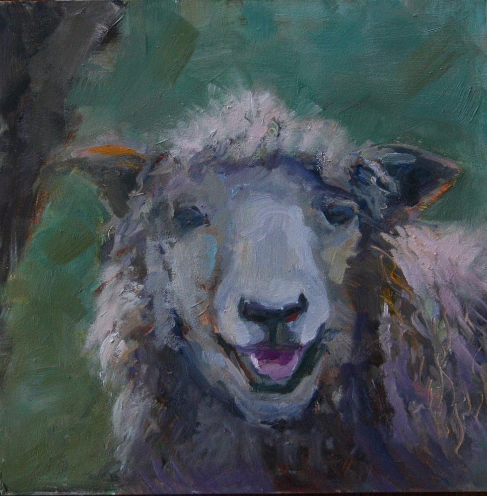 """""""Smiling Sheep"""" original fine art by Carol Josefiak"""