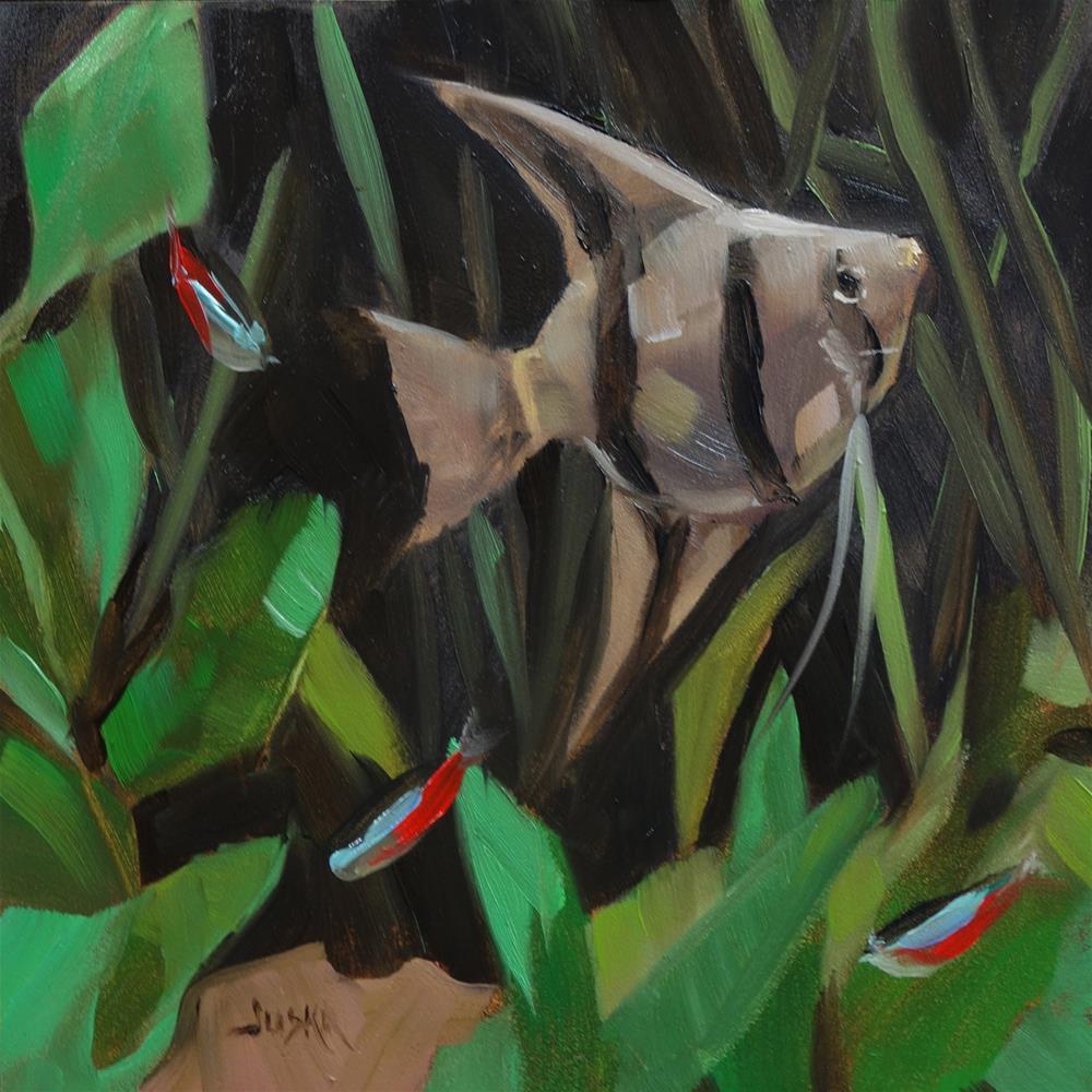 """Angel Fish #2"" original fine art by Elaine Juska Joseph"