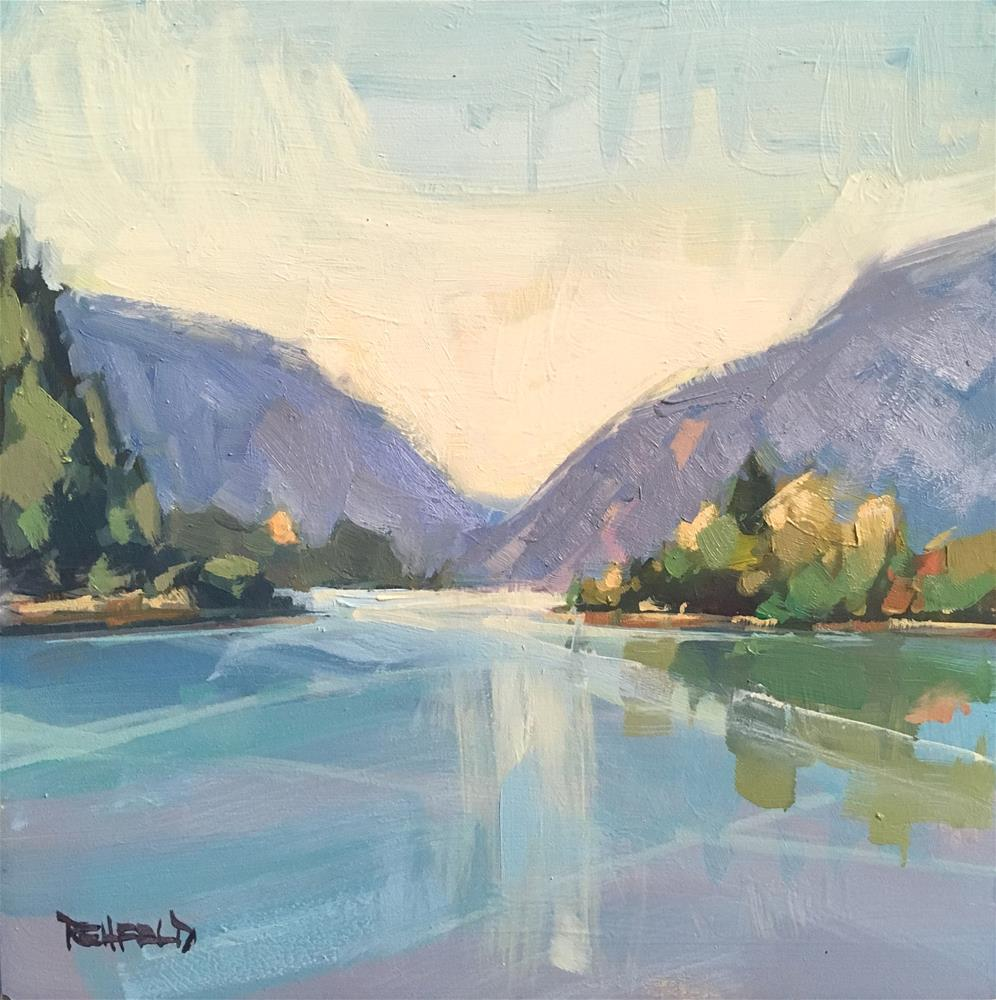 """Calm on the Columbia River Gorge"" original fine art by Cathleen Rehfeld"