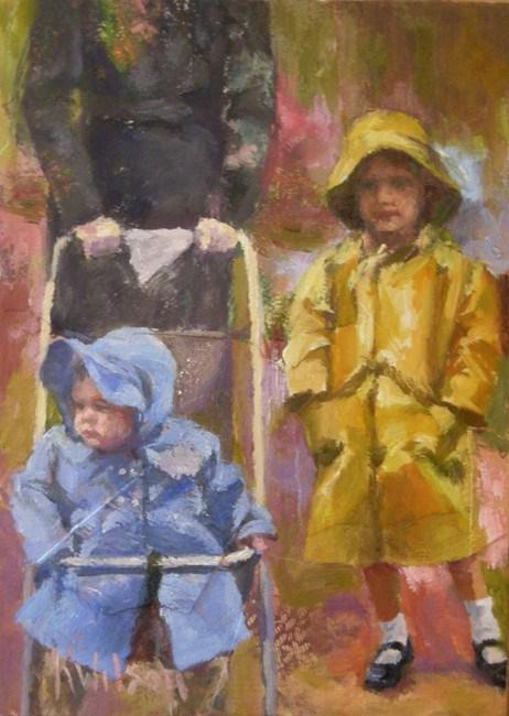 """Yellow Slicker"" original fine art by Katie Wilson"