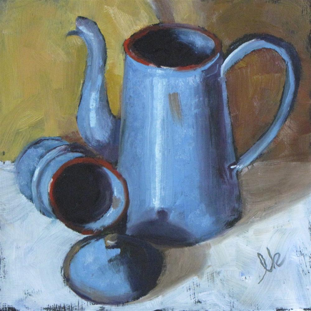"""French Coffee Pot"" original fine art by Louise Kubista"